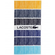 Plážová osuška Lacoste Cocktail cotton stripe blue 190 x 90