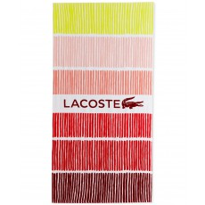 Plážová osuška Lacoste Cocktail cotton stripe red 190 x 90
