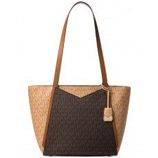 Michael Kors Whitney medium leather tote butternut/brown