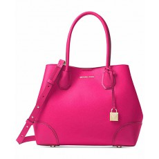Kabelka Michael Kors Mercer gallery medium leather tote ultra pink