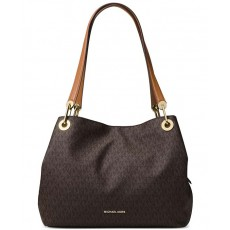 Michael Kors kabelka Raven large signature shoulder brown