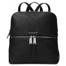 Michael Kors Rhea zip medium slim backpack black/silver