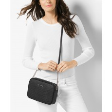 Michael Kors jet set large crossbody signature black