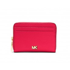 Michael Kors peněženka zip around pebbled leather ultra pink