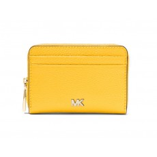 Michael Kors peněženka zip around pebbled leather sunflower