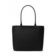 Michael Kors Maddie large crossgrain leather tote black