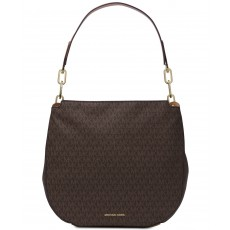 Kabelka Michael Kors Fulton large logo hobo brown