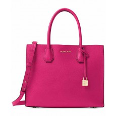 Michael Kors Mercer large leather tote ultra pink