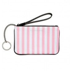 Wristlet Victoria´s Secret white pink stripe
