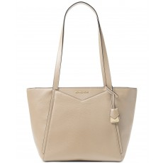 Michael Kors Whitney medium leather tote oat gold