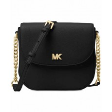 Michael Kors Mott leather dome crossbody black/gold