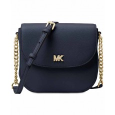 Michael Kors Mott leather dome crossbody admiral