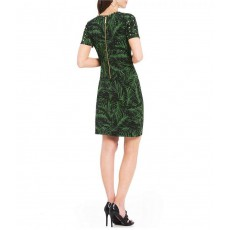 Michael Kors palm green print embellished šaty