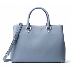 Michael Kors Savannah large satchel pale blue