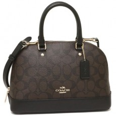 Coach mini Sierra kabelka logo brown F58295
