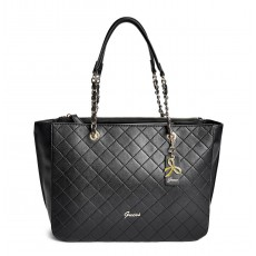 Guess kabelka Lilit quilted stitch tote black