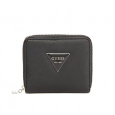 GUESS peněženka Abree small zip-around black