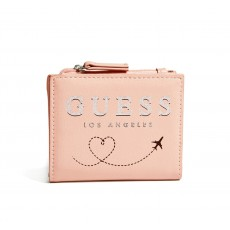 GUESS peněženka small travel pink multi