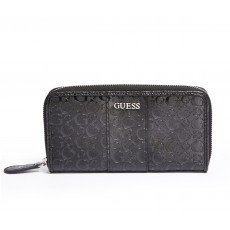 GUESS peněženka Ware patent logo zip-around black
