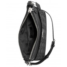 COACH crossbody messenger signature black smoke/silver