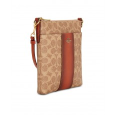 COACH crossbody messenger signature tan rust