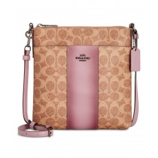 COACH crossbody messenger signature tan jasmine