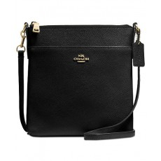 COACH Courier crossbody crossgrain leather black