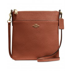 COACH Courier crossbody crossgrain leather sadle