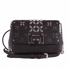 Michael Kors Tina crossbody small leather black