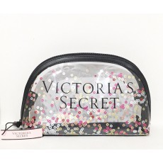 Kosmetická taštička Victoria's Secret sequin clear beauty bag