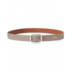 Ralph Lauren pásek saffiano dress belt taupe/silver