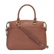 Calvin Klein kabelka Raelynn leather walnut