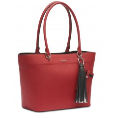 Calvin Klein kabelka Susan leather red/silver