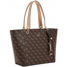Guess kabelka Kamryn large signature tote brown