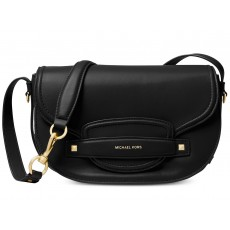 Michael Kors crossbody kabelka Cary saddle leather black