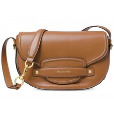 Michael Kors crossbody kabelka Cary saddle leather acorn