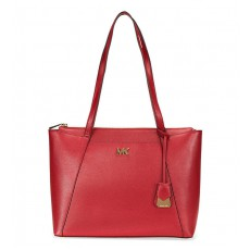 Michael Kors Maddie medium leather tote maroon