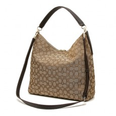 Kabelka Coach signature brown khaki crossbody F55365
