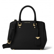 Michael Kors Benning medium leather satchel black