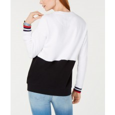 Tommy Hilfiger sweatshirt mikina logo colorblocked black/white