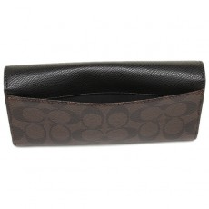 Coach peněženka signature slim envelop brown/black F54022