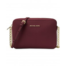 Michael Kors jet set large crossbody oxblood