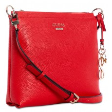 GUESS West Side society crossbody red gold