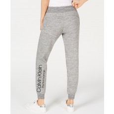 Calvin Klein tepláky logo jogger black heather