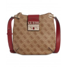 GUESS logo Luxe tourist crossbody brown