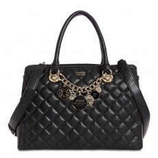 GUESS kabelka Victoria quilted girlfriend satchel black