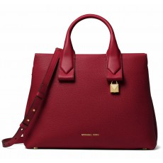 Michael Kors kabelka Rollins large leather maroon
