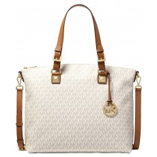 Michael Kors jet set item multifunction satchel vanilla