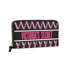 Victoria´s Secret peněženka Ribbon black pink