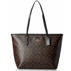 Coach kabelka City signature brown/black F58292